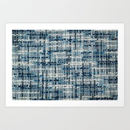 Boucle suiting fabric texture Art Print