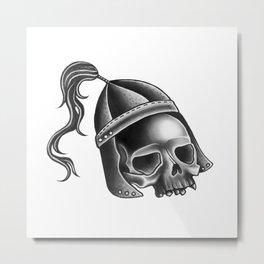 Little War Skull Metal Print