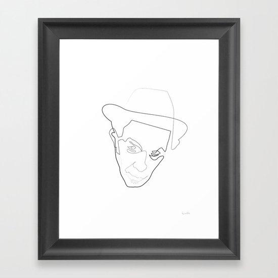 One Line Tom Waits Framed Art Print