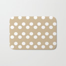 Almond Buff Polka Dots Bath Mat