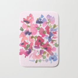 Monet's Rose Garden Bath Mat