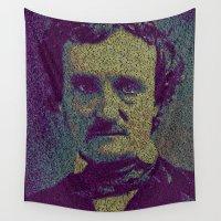poe Wall Tapestries featuring Edgar Allan Poe. by Robotic Ewe