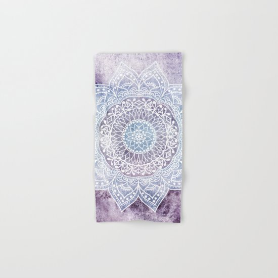 DEEP PURPLE MANDALA Hand & Bath Towel
