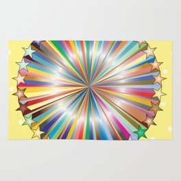 Multi Color Circle of Color Rug