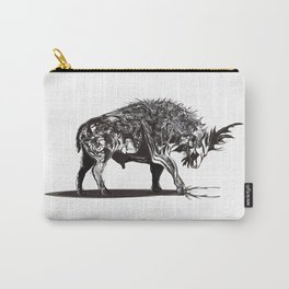 Ramming 1. Black and white background. Carry-All Pouch