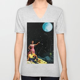 Luxurious Lunar Larking Unisex V-Neck