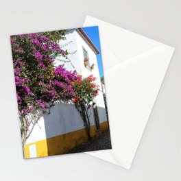 Traditional architecture in Medieval Portuguese Town of Obidos Stationery Cards
