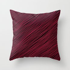 Stripes - Red Throw Pillow