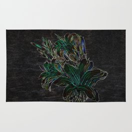 Variation of flowers - Night Rug