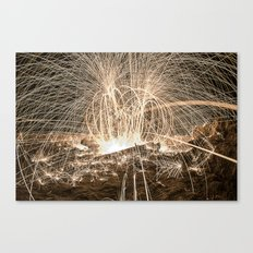 A bit of fire and a pier Canvas Print