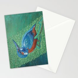 Kingfisher & Code (I KNOW It Means SOMEthing...) Stationery Cards