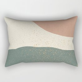 Minimalist Painting - Terra Green Rectangular Pillow