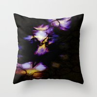 velvet underground Throw Pillows featuring Underground by Irène Sneddon