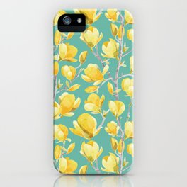 Yellow Magnolia Spring Bloom iPhone Case