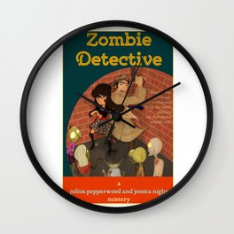 A detective story Wall Clock