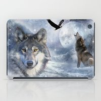 wolves iPad Cases featuring Wolves by Julie Hoddinott