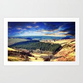 Exmoor views Art Print