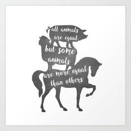 Animal Farm - George Orwell Art Print