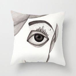 City-eye Throw Pillow