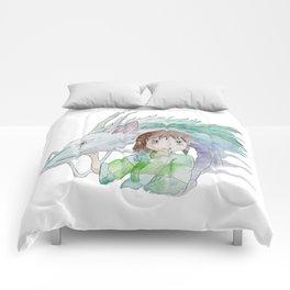Chihiro and Haku Comforters
