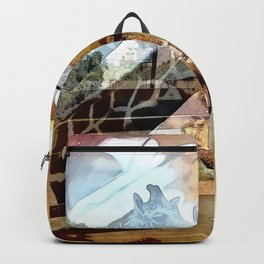 Giraffes in the Shadow of Fall Leaves Backpack