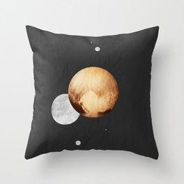 Pluto: The Dwarf Planet Poster Throw Pillow