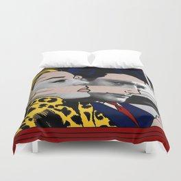 "Roy Lichtenstein's ""In the car"" & Marcello Mastroianni with Anita Ekberg Duvet Cover"