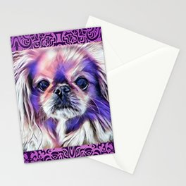 Peak in purple Stationery Cards