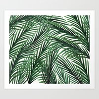 tropical Art Prints featuring Tropical by Elly Liyana
