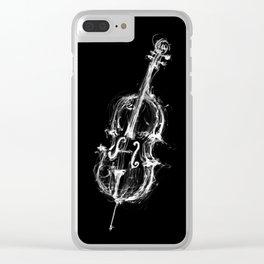 Black Cello Clear iPhone Case