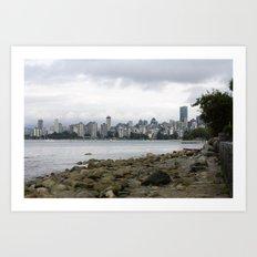Vancouver City Skyline Art Print