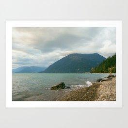 Mornings at the lake Art Print
