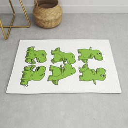 T-Rex Fusion Short Arms Dino funny gift Rug