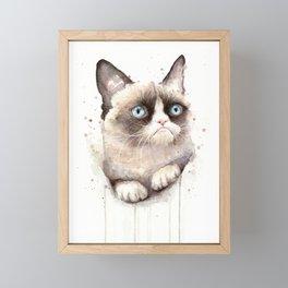 Angry Cat Framed Mini Art Print