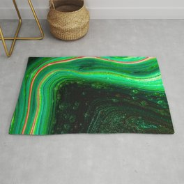 paint liquid stains macro abstraction green Rug
