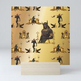 Anubis patter Mini Art Print