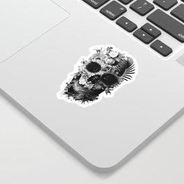 Garden Skull B&W Sticker