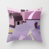farm Throw Pillows featuring Farm by Andrew Formosa
