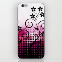 vector iPhone & iPod Skins featuring VECTOR PINK VECTOR PINK by Ylenia Pizzetti