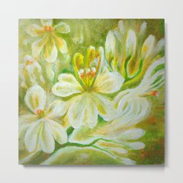 Moringa flowers Metal Print