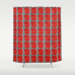 Red Marks the Spot Shower Curtain