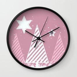 Stars forest Wall Clock