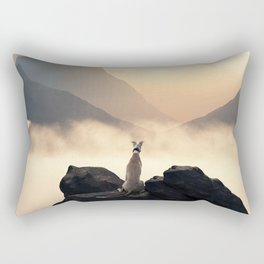 Sunset of a greyhound Rectangular Pillow