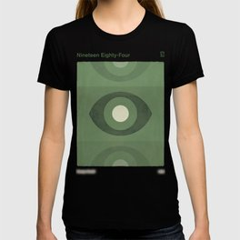George Orwell Nineteen Eighty-Four - Minimalist literary design, bookish gift T-shirt