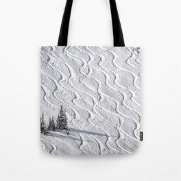 Powder tracks Tote Bag