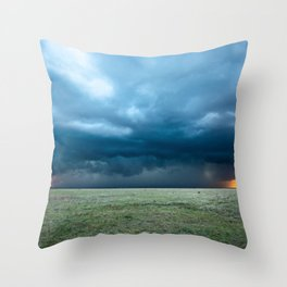 Regeneration - Storm Strengthens With Amazing Color in Texas Throw Pillow