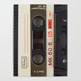 Retro 80's objects - Compact Cassette Poster