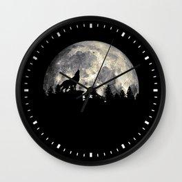 Wild Solitary Wolf Wall Clock
