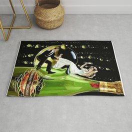 Vintage Domaine Ste. Brut Michelle Champagne Advertisement Poster Rug