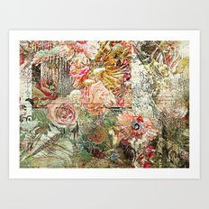 Funky Fantasy Floral Art Print